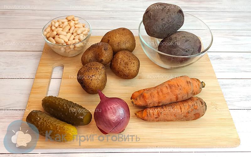 Фото 1 как приготовить винегрет