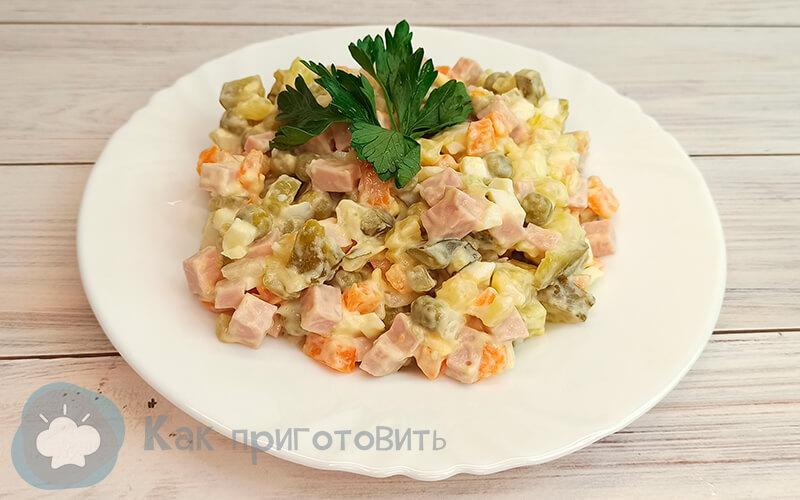 Фото 1 как приготовить салат оливье